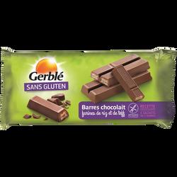Barre chocolait sans gluten GERBLE, 5 sachets de 2 barres, 107g