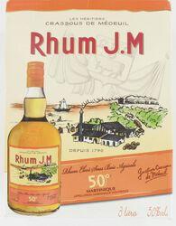 Rhum AOC de Martinique élevé sous bois RHUM J.M, 50°, bib de 3l