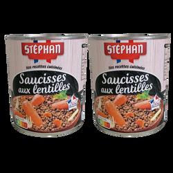 Saucisses aux lentilles STEPHAN boîtes 2x4/4 1,680kg