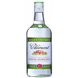 Rhum agricole blanc AOC, CLEMENT, 55°, la bouteille de 50cl