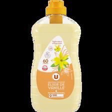 Adoucissant concentré élixir de vanille U, flacon 60 lavages 1,5l