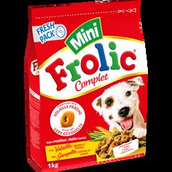 Croquettes à la volaille légumes et céréales mini, FROLIC, 1kg