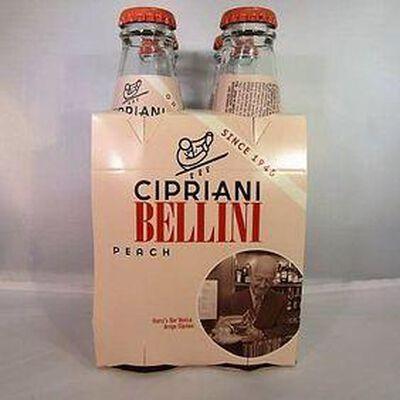 Boisson gazeuse sans alcool à base de purée de pêche pour cocktail CIPRIANI,4x18c