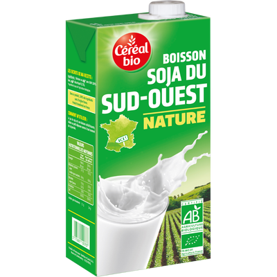 Boisson au soja nature Bio & Local CEREAL BIO, brique de 1 litre