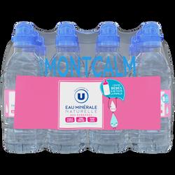 Eau minérale MONTCALM U, 12 bouteilles de 33cl