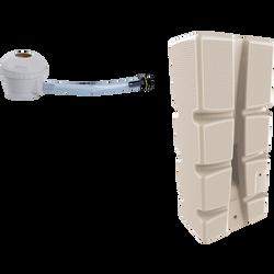 Récupérateur d'eau EDA 310l beige+kit collecteur