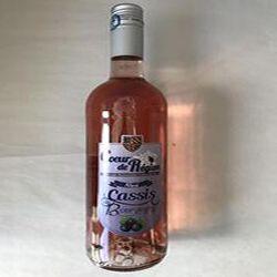 Boisson aromatisée à base de vin Rosé cassis de Bourgogne VINS ET FRUITS