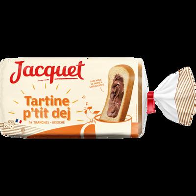 Pain de mie brioché tartine P'tit Déj JACQUET, paquet de 410g