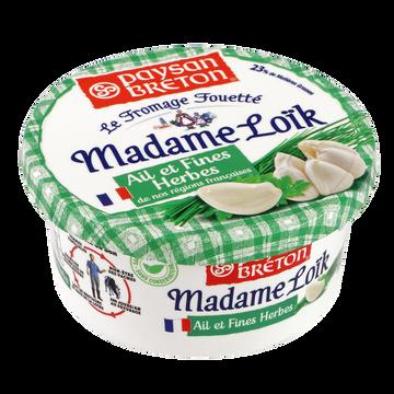Paysan Breton Fromage Pasteurisé Fouetté Madame Loik Ail Et Fines Herbes Paysan Breton, 23%mg, 150g