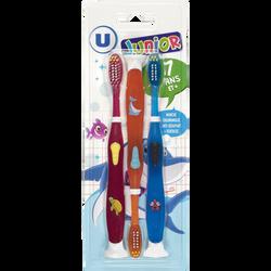 Brosse à dents junior manga 7 ans et plus U, x3