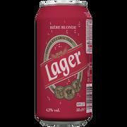 Lager Bière Blonde Lager U, 4,2°, Boite De 50cl