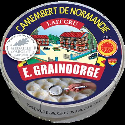 Camembert AOP de Normandie au lait cru 20% de matière grasse E.GRAINDORGE, 250g