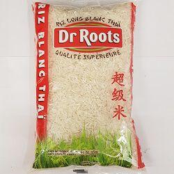 Riz long blanc thaï, DR ROOTS, le sachet de 1kg