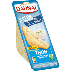 Sandwich club les tartinades thon fromage ciboulette DAUNAT, 135g