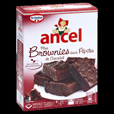 Brownies aux pépites de chocolat DR OETKER & ANCEL, étui de 265g