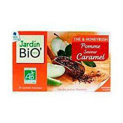 Thé & honeybush pomme saveur caramel JARDIN BIO, 20 sachets, boîte de 30g