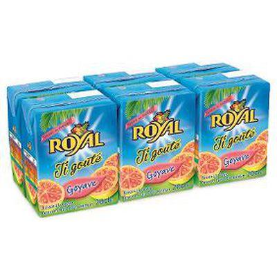 Briquettes de jus,ROYAL ,baf goyave 6X20CL