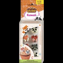 Assortiment de 8 décorations animaux en sucre kawaii VAHINE, 7g