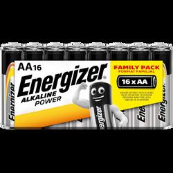 Piles Energizer power, lr6/aa, 16 unités