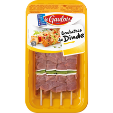 Brochette de dinde et poivrons, LE GAULOIS, 4 pièces 380 g
