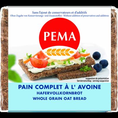 Pain complet à l'avoine PEMA, 500g