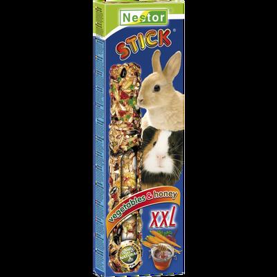 Baguettes xxl lapins rongeurs miel légumes, AIME, 160g