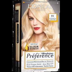 Coloration permanente Préférence Récital blondissime, naturel, n°01
