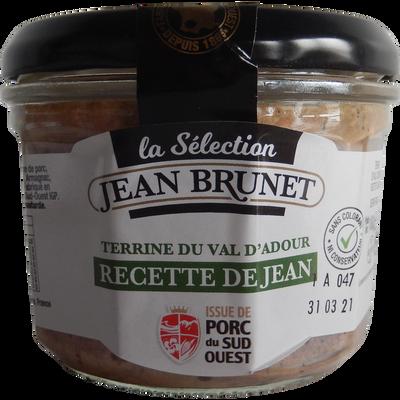 Terrine du val d'Adour recette de Jean JEAN BRUNET, 180g