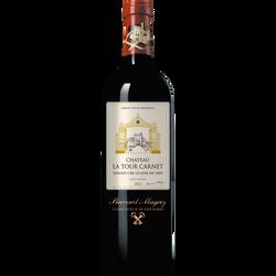 Vin rouge Haut Médoc AOC grand cru classé Château la Tour Carnet, caisse en bois de 6x75cl