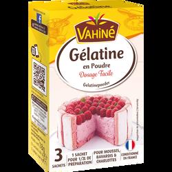 Gélatine poudre etui VAHINE, 3 sachets de 18g