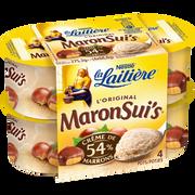 Nestlé Mousse Crème De Marron Maronsui's La Laitiere 4x69g