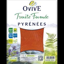 Truite fumée des Pyrénées OVIVE, 4 tranches, 120g