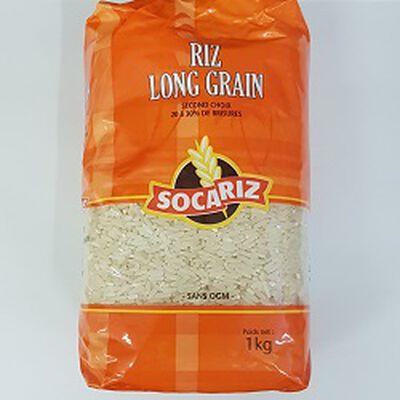 Riz long grain SOCARIZ, le paquet de 1Kg