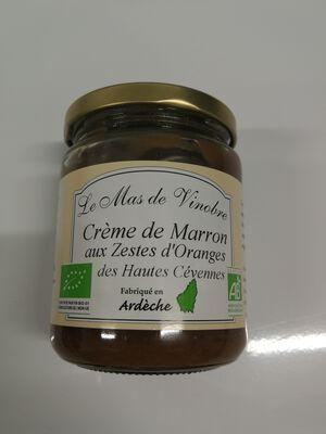 Crème de marrons bio aux zestes d'orange Le mas de Vinobre 320g
