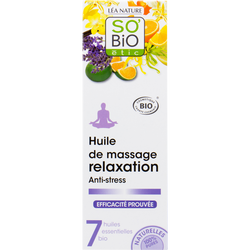 Huile massage relaxation anti-stress aux 7 huiles essentielles SO BIO100ml
