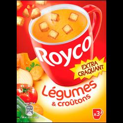 Délice de légumes et croûtons ROYCO, 3 sachets de 60cl