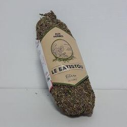 Saucisson pur porc enrobé aux herbes LE BATISTOU 300g
