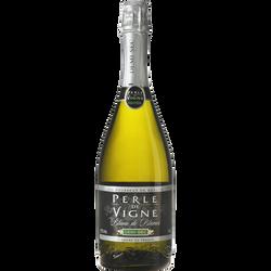 Vin mousseux blanc de blanc demi-sec Perle de Vigne U, 75cl