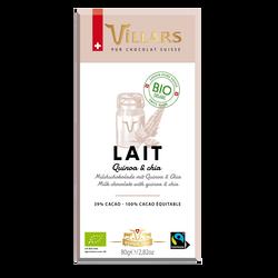 Tablette bio au chocolat au lait quinoa VILLARS 80g