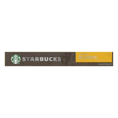 STARBUCKS by nespresso blonde espresso roast, x10capsules, 53g