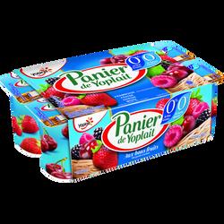 Yaourt 0% de MG aromatisé aux fruits rouges PANIER DE YOPLAIT, 8x125g