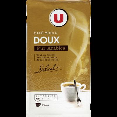 Café moulu arabica doux U, paquet de 250g