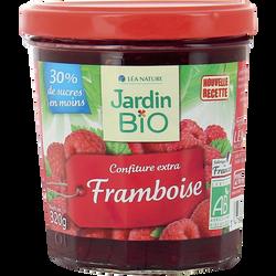 Confiture framboise JARDIN BIO, bocal en verre 320g