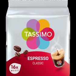 Café Dosettes TASSIMO Espresso Classique x 16