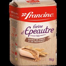 Farine de blé tous usages à l'épeautre FRANCINE, paquet de 1kg