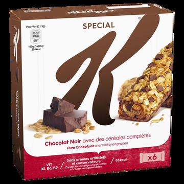 Kellogg's Barres Céréales Special K Kellogg's Chocolat, 6x21,5g