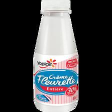Crème fraîche fluide entière 30%MG Fleurette YOPLAIT 40cl