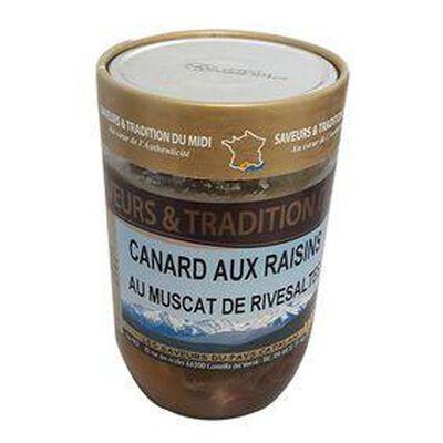 Canard aux raisins et au Muscat de Rivesaltes, bocal de 600g- SAVEURS ET TRADITION DU MIDI