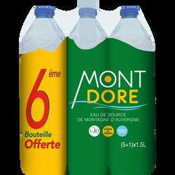 Eau de source de Montagne MONT DORE, pack de 6x1,5l dont 1 offerte