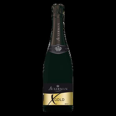 Vin mousseux blanc brut Ackerman X Gold, 75cl